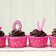 Valentine Cupcakes Poster