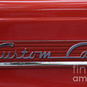 56 Ford F100 Custom Cab Poster