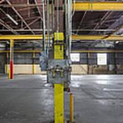 An Empty Industrial Building In Los Poster by Dan Kaufman