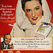 Chesterfield Cigarette Ad Poster