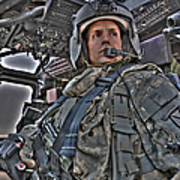 Hdr Image Of A Pilot Sitting Poster