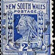old Australian postage stamp Poster