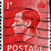 old British postage stamp Poster