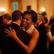 President And Michelle Obama Dance Poster