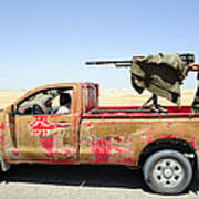 A Free Libyan Army Pickup Truck Poster