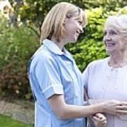 Nurse On A Home Visit Poster