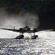 A Beechcraft D-18s Floatplane ,built Poster