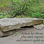 A Bench For Those Who Seek Repose Poster