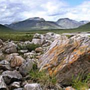 A Boulder Near Loch Garve Poster