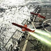 A Bqm-74e Aerial Drone Launches Poster