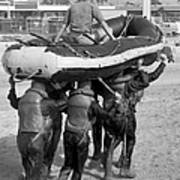 A Buds 1st Phase Boat Crew Carry An Poster