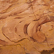 A Close View Sandstone Rocks Of Petra Poster