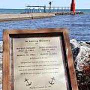 A Fisherman's Prayer At Algoma Lighthouse Poster by Mark J Seefeldt