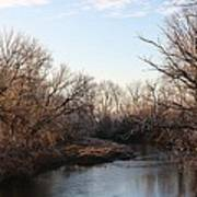 A Frosty Morning On The Elkorn Creek Poster