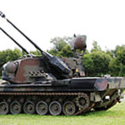 A Gepard Anti-aircraft Tank Poster by Luc De Jaeger