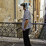 A Gondolier In Venice Poster