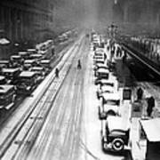 A Heavy Snowfall, 42nd Street, Looking Poster