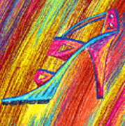 A High Heel Poster by Kenal Louis