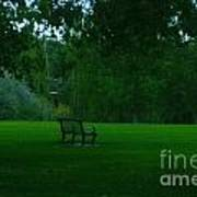 A Lonely Autumn Bench  Poster