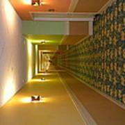 A Long Hallway Flipped Sideways Poster