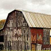 A Mail Pouch Barn In West Virginia Poster