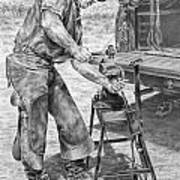 A Man And His Trade - Farrier Art Print Poster