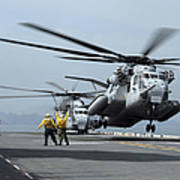 A Marine Mh-53 Helicopter Takes Poster