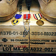 A Memorial Dedicated To An Airman Who Poster by Stocktrek Images