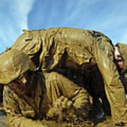 A Midshipman Crawls Through Fellow Poster