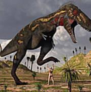 A Nano-tyrannosaurus Takes On Adam Poster