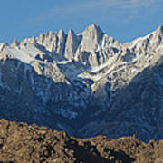 A Panoramic View Of Mount Whitney Poster