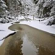 A Partially Frozen Stream Runs Poster