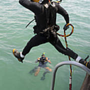 A Photographer Documents A Navy Diver Poster