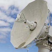 A Radar Dish Aboard Mobile At-sea Poster