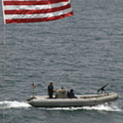 A Rigid Hull Inflatable Boat Poster