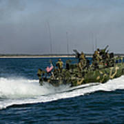 A Riverine Command Boat During Exercise Poster