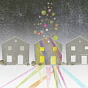 A Row Of Houses Poster by Jutta Kuss