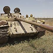 A Russian T-55 Main Battle Tank Poster