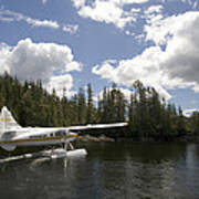 A Seaplane Taking Off From Vancouver Poster
