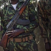 A Soldier With The Armed Forces Poster