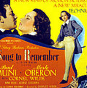 A Song To Remember, Cornel Wilde, Merle Poster