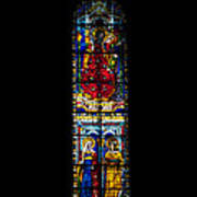 A Stained Glass Window Lit By The Day Poster