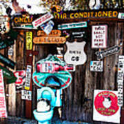 A Stop Along Route 66 Poster