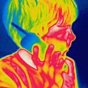 A Thermogram Of A Boy Talking Poster