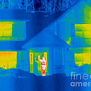 A Thermogram Of A Person Waving In House Poster