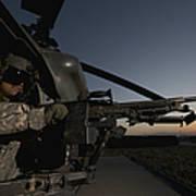 A Uh-60l Blackhawk Door Gunner Mans Poster