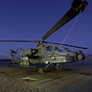 A U.s. Army Ah-64d Apache Helicopter Poster