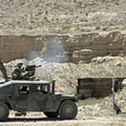 A U.s. Marine Fires A Mark 19-3 40mm Poster