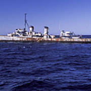 A U.s. Navy Deactivated Ship Sits Ready Poster