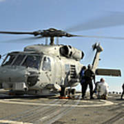 A U.s. Navy Sh-60b Seahawk Helicopter Poster